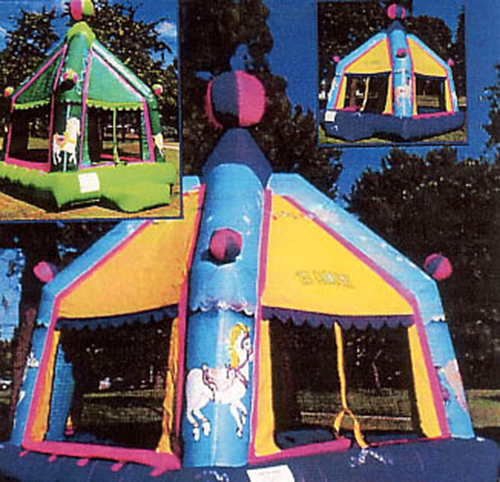 Carosel Moonwalk Bounce Houses