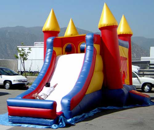 Castle Moon Bouncer Slide combination