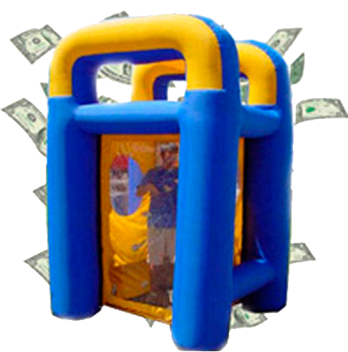Money Machine makes money blow around you while you try to catch as much as you can